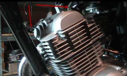Регулировка клапанов Yamaha YBR 125