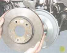 Замена передних тормозных дисков Митсубиси Лансер 10